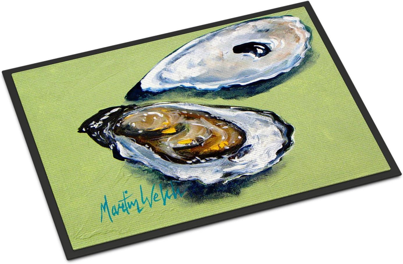 Caroline s Treasures MW1102JMAT Oysters Two Shells Indoor or Outdoor Mat 24×36 Doormat, 24H X 36W, Multicolor