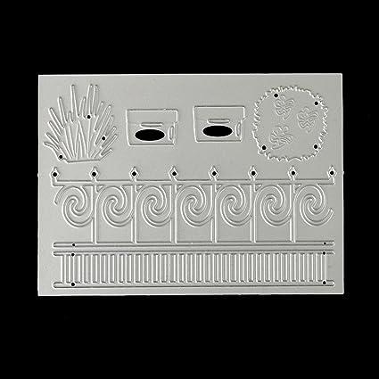 DIPOLA DIY Plantillas de Troquelado de Metal en Forma de Nube,Repujado para Crear Álbumes de Recortes.Celebración de Navidad &010: Amazon.es: Hogar