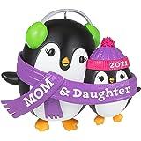 Hallmark Keepsake Christmas Ornament, Year Dated 2021, Mom & Daughter Penguins