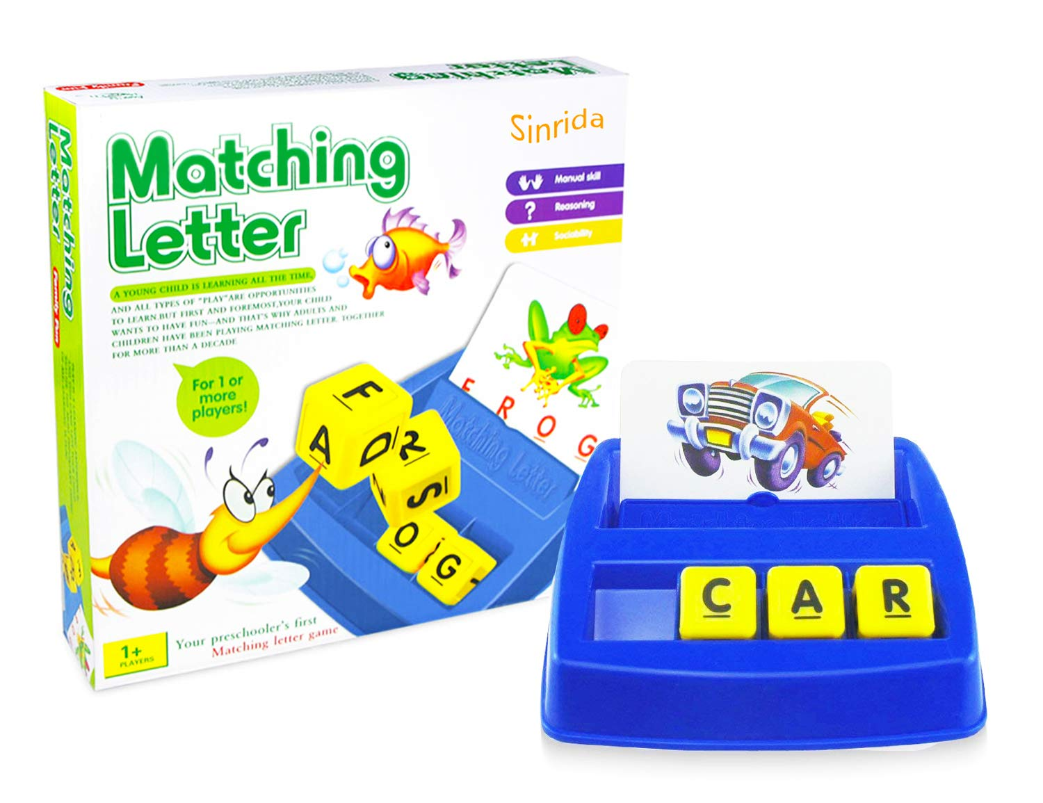 Matching Letter Game,Letter Spelling - Reading Game for Preschool & Kindergarten Three & Four Letter Picture Word Matching Game for Word Recognition - Spelling, Educational Learning Games for Kids by Sinrida (Image #5)