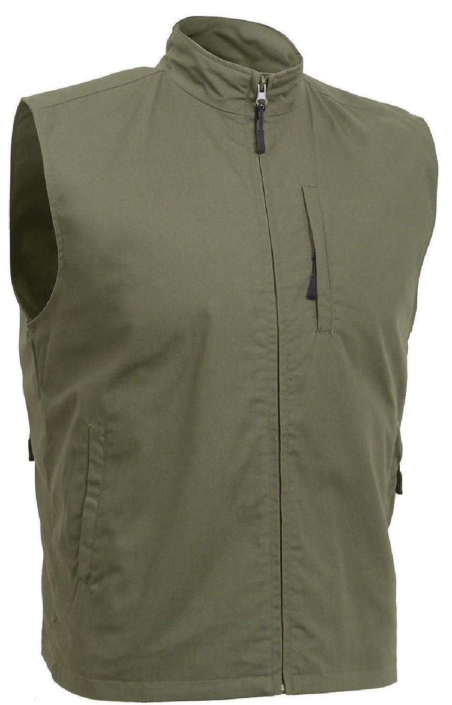 タクティカルトラベルベストConcealed Carry Undercover Discreet Secret 11ポケットCargo オリーブドラブ 2X-Large