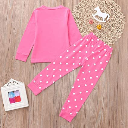 6f866afcbdb4 Amazon.com: BOLUOYI Cute Outfits for Teen Girls Toddler Kids Baby Boys  Cartoon Christmas Tops Pants Pajamas Set Pink 90: Toys & Games