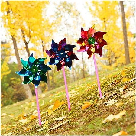 WZXX Arco Iris del Molinillo, lámina de plástico pequeño Molino de Viento Coloridas Regalos Exterior del Molino de Viento para la Fiesta de jardín Decoración Color al Azar (100 Piezas): Amazon.es: Hogar