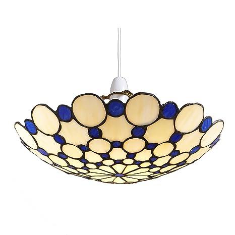 Lighting Web Co - Lámpara de techo (fácil de montar, cristal ...
