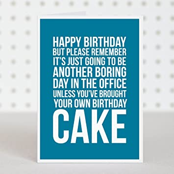 Happy Birthday Office Cake