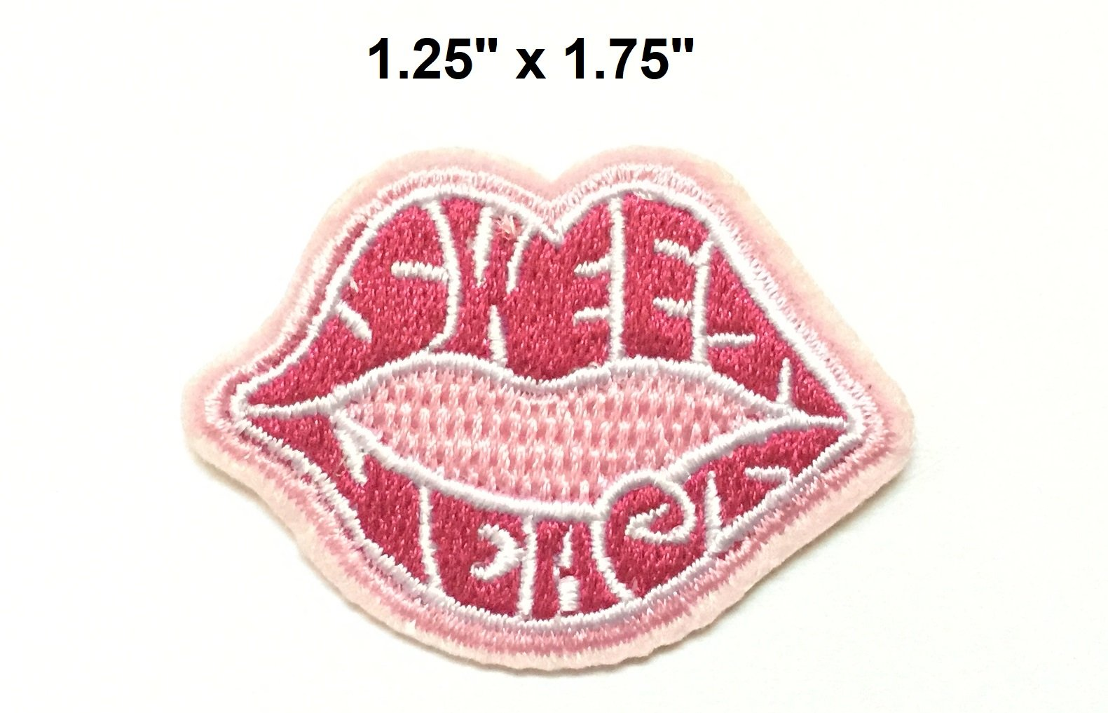 Set patch of Iron on Pink Patches for Women or Girls #13,Heart patch, Mouth patch, Flamingo Patch, Lipstick patch Patches Iron On Embroidery Patch Badges Applique Clothes by BossBee