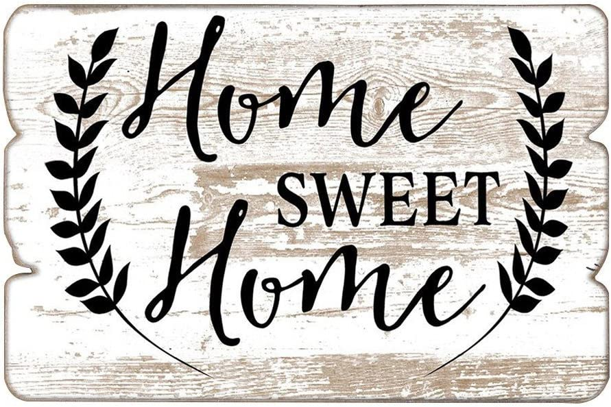 "MODE HOME 11.81""X15.75"" Decorative Wooden Wall Hanging Signs Plaque With Quotes Sayings"
