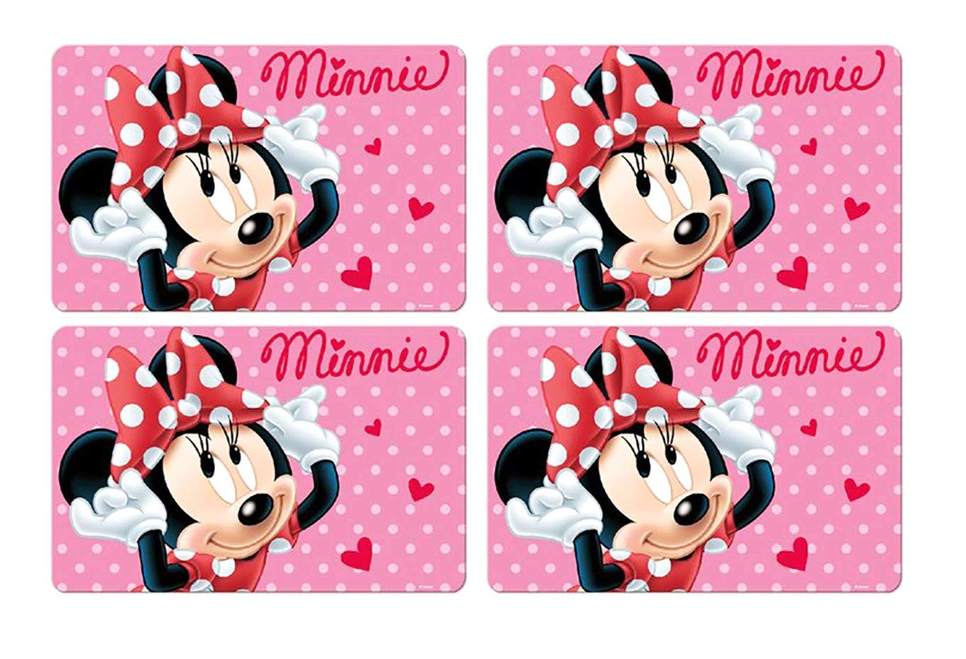 Malun Mat Kneading Under Layer /4x Place Mat//Table Mat//Place Mat//Table Mats//Placemats//Essunterlage//Tablemat//Placemat /Children Gift Idea 3D/ Made from plastic washable Craft Mat 42/x 28/cm Minnie Mouse/