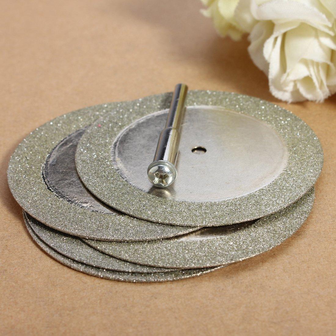 punta per trapano e mini dischi da taglio diamantati per tagliare vetro e pietre preziose adatti alluso con utensili a rotazione OriGlam