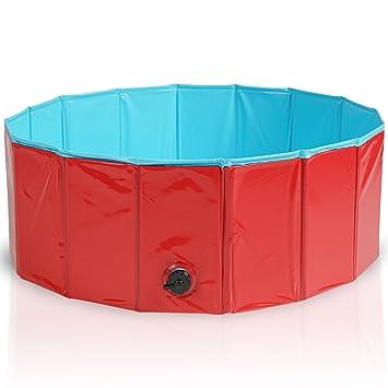 Premium Piscina para Mascotas Plegable 80x30CM - Multifuncional, Portátil, PVC Antideslizante - Bañera para