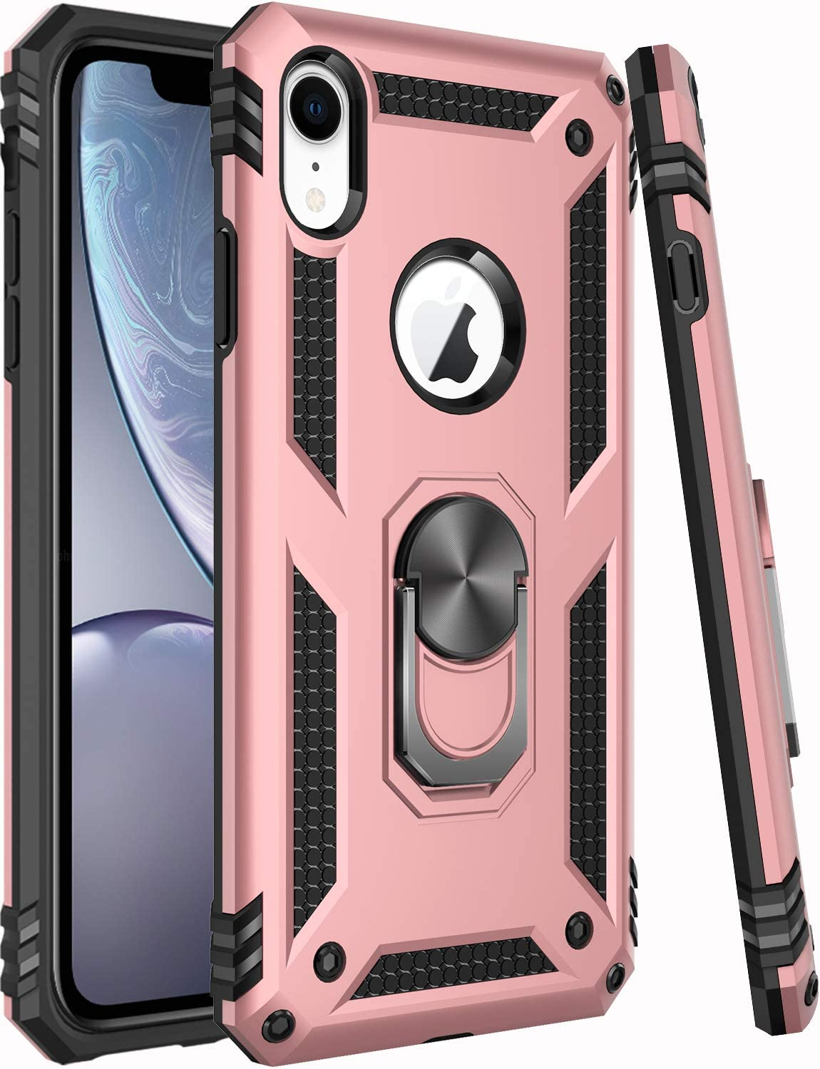 iPhone XR Case,ZADORN 15ft Drop Tested,Military Grade Heavy Duty Protective Cover with Hard PC and Soft Silicone Protective Phone Case for iPhone XR Brass