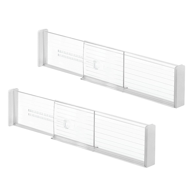 mDesign set da 2 organizer cassetti - organizer per cassetti e armadi - accessori cucina per utensili da cucicna, tessili, ecc. - trasparente MetroDecor 6667MDK
