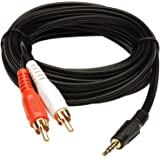 Audio Video 2RCA Stereo Cables with 3.5mm Aux Jack for Home Theaters, Music Players, Set-up Boxes, DVD Players, Speakers and LCD/LED TVs