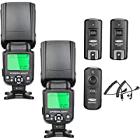 Neewer NW-562N i-TTL Flash Speedlite Kit for Nikon DSLR Camera,Kit Include:(2) NW562N Flash+(1) FC-16 2.4Ghz Wireless Trigger(1 Transmitter+2 Receiver)+(1) Microfiber Cleaning Cloth