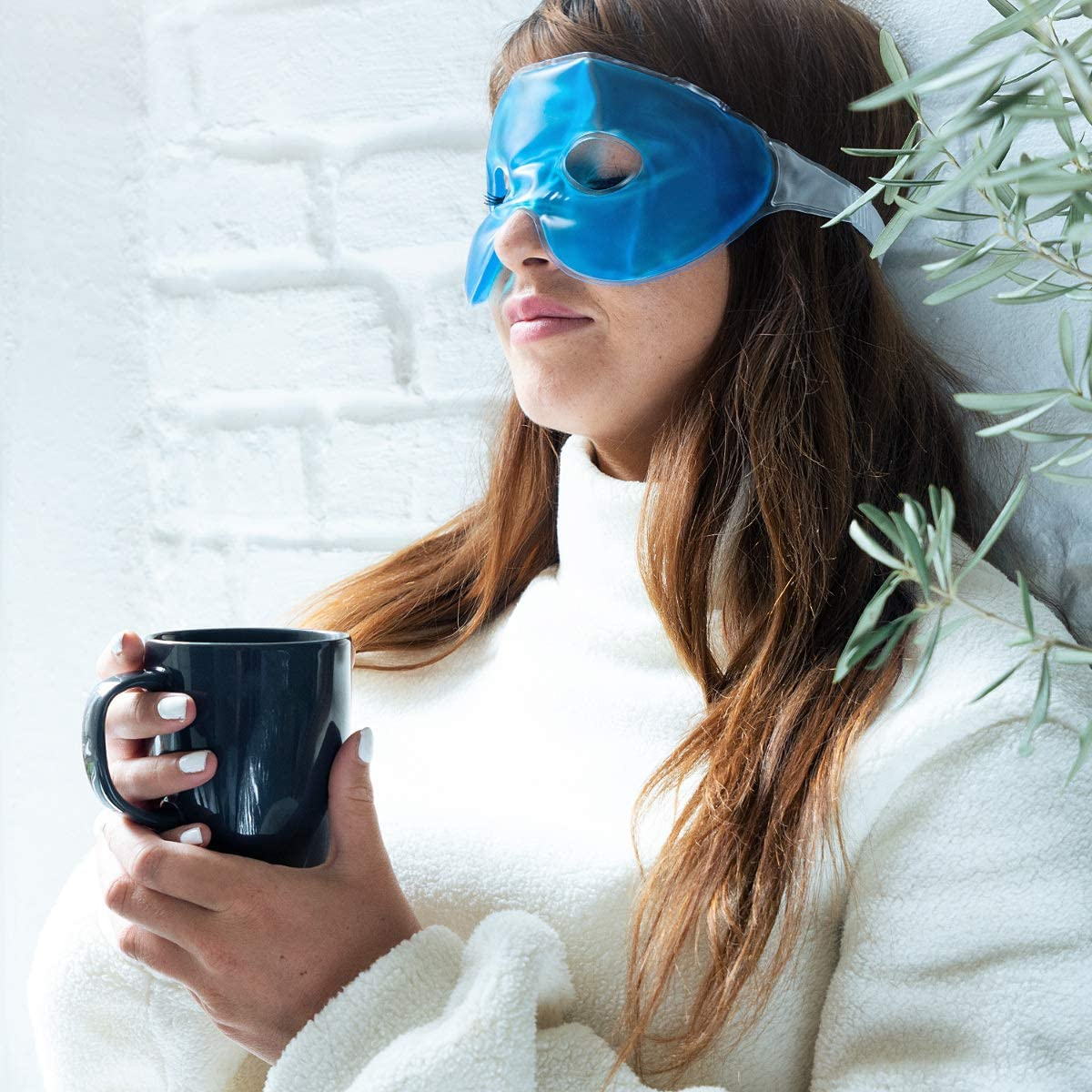 bl/épharite Masque de sommeil hydrogel pour relaxation yeux secs yeux fatigu/és voyage maux de t/ête stress