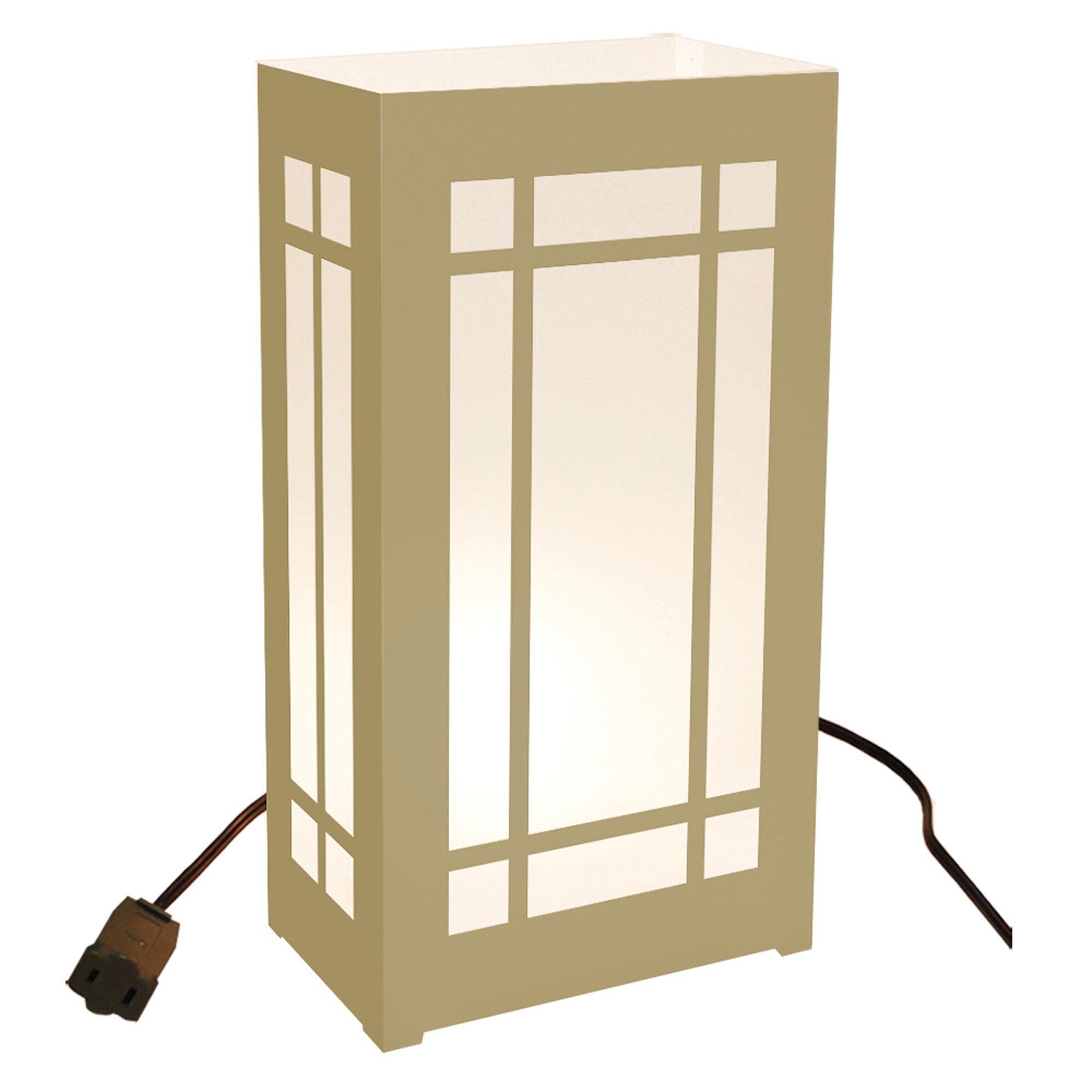 Electric Luminaria Kit- Gold Lantern 10 Ct by Lumabase