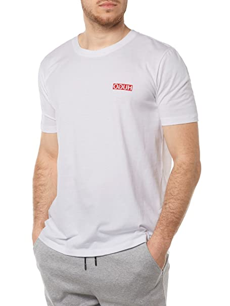 ead8cdfe5 Hugo Boss Mens Round Neck T Shirt DURNED 50332919 Size M White: HUGO ...