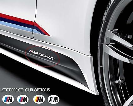 2 x bmw m performance side skirt car vinyl sticker bumper window banner decal graphics