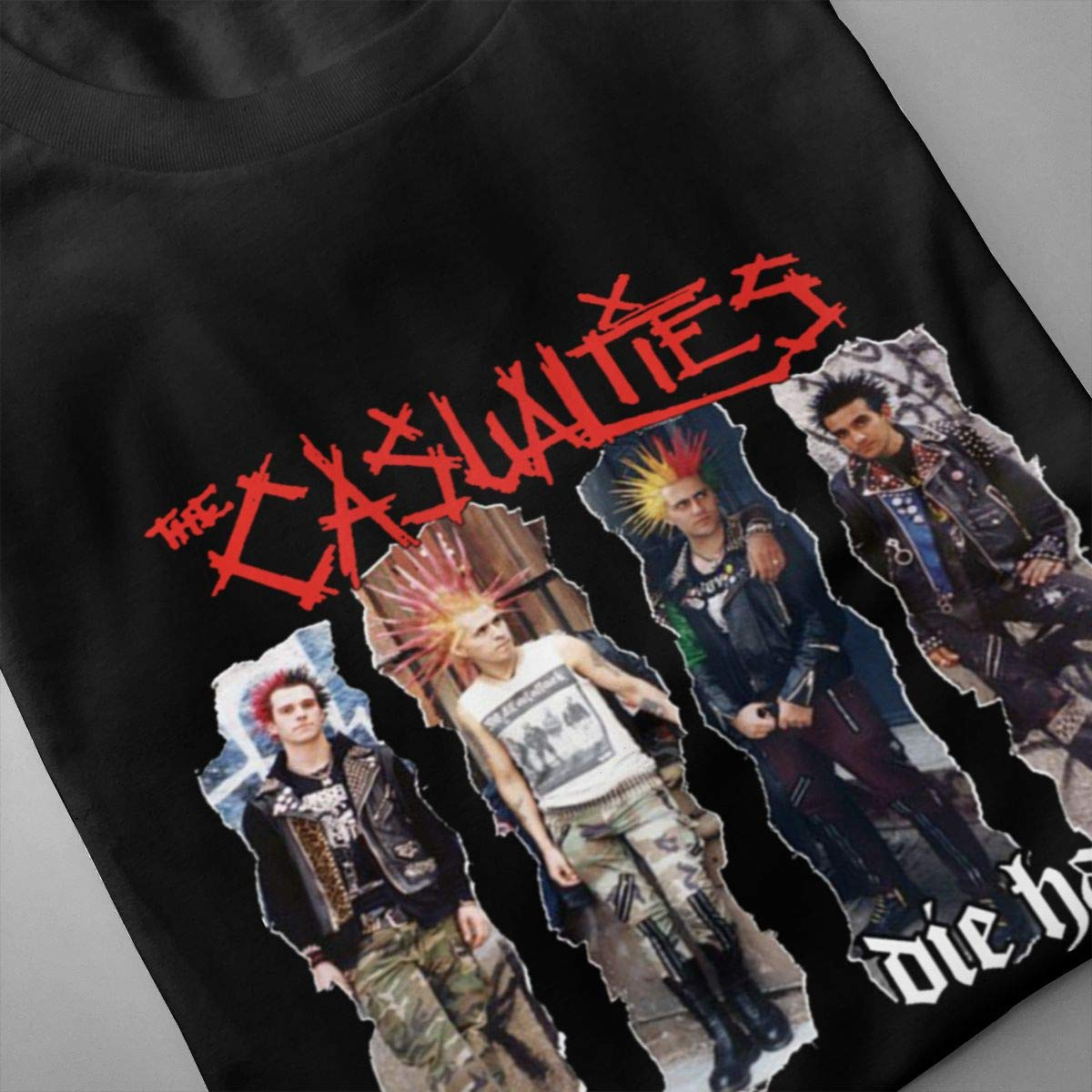 Smooffly Mens The Casualties Ultra Soft Crew Neck Short Sleeves Shirts