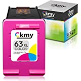 CKMY Remanufactured 63XL Ink Cartridge Replacement for HP 63 Used for Envy 4520 3634 4513 OfficeJet 5222 3830 5252 4650 5258