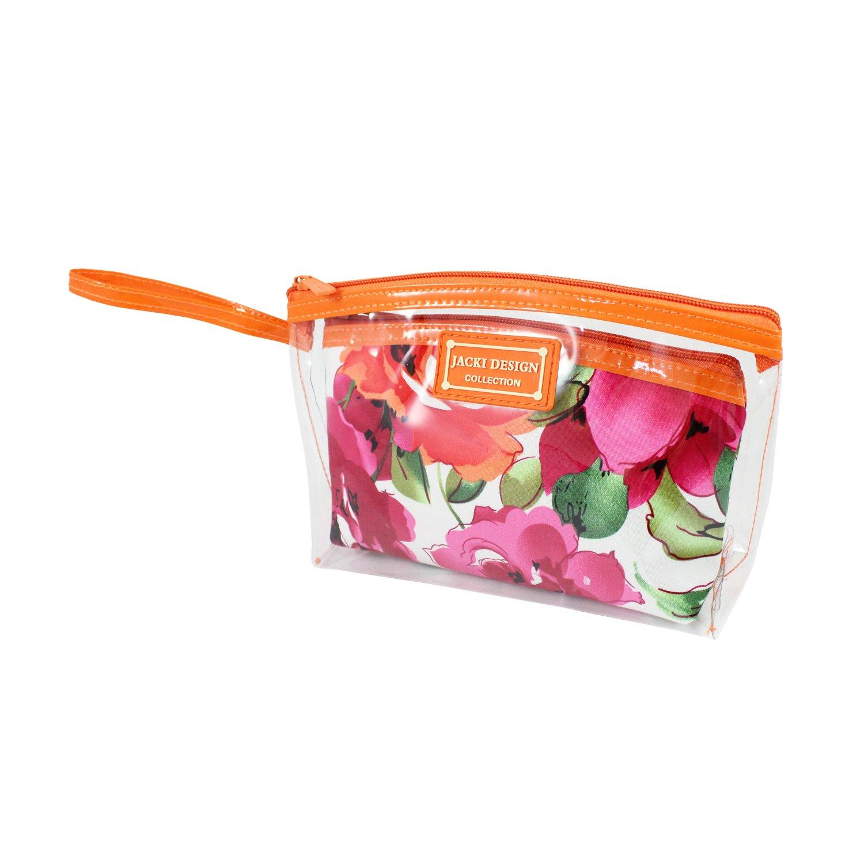 a4a621a56235 Basico Women's Cosmetic Bag Set,tote Bag Set **Vary Size& Styles** (2 PC  Cosmetic Bag Set with Wristlet-Orange)