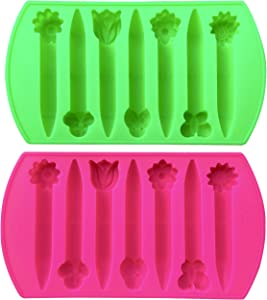 Crayon 2 Girly Flowers & Bug Shaped Chunky Silicone Oven Safe Crayon Molds (Makes 14 Crayons) Reusable - by My Fruit Shack