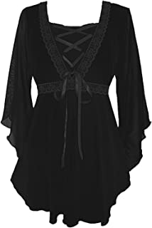 9990fd8584 Dare To Wear Victorian Gothic Boho Women s Plus Size Bewitched Corset Top