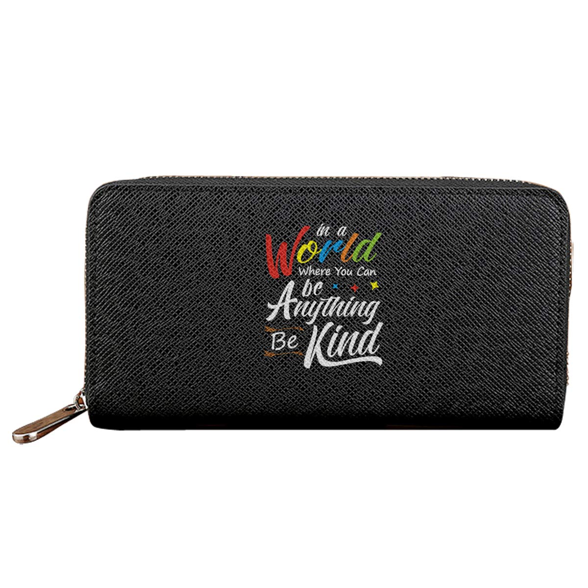 In A World Where You Can Be Anything Be Kind 1 Long Wallet PU Leather Zipper