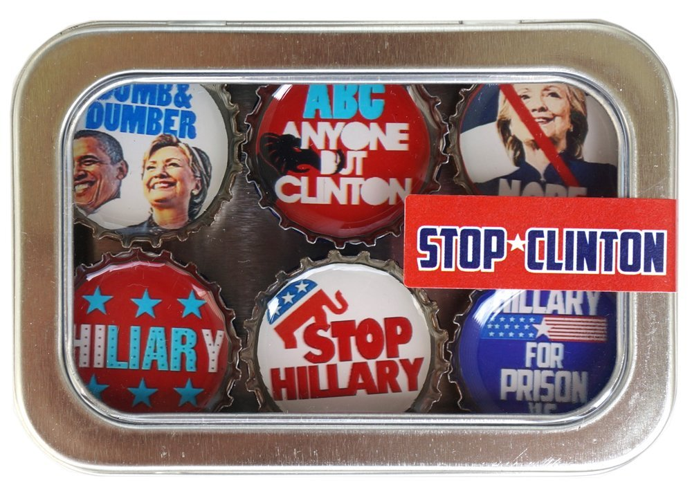 Kate Grenier Designs Stop Clinton Bottle Cap Magnets 2