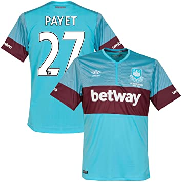 West Ham United Away payet Nº 27 Camiseta 2015 2016 (pspro Premier League), unisex, azul celeste, extra-large: Amazon.es: Deportes y aire libre