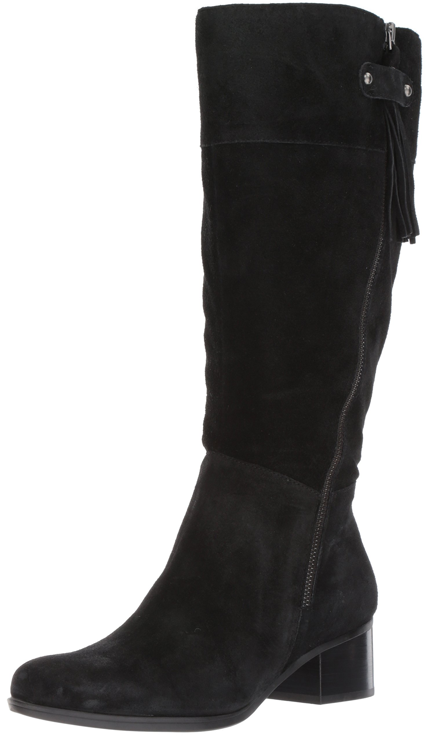 Naturalizer Women's Demi Wc Riding Boot, Black, 5.5 M US
