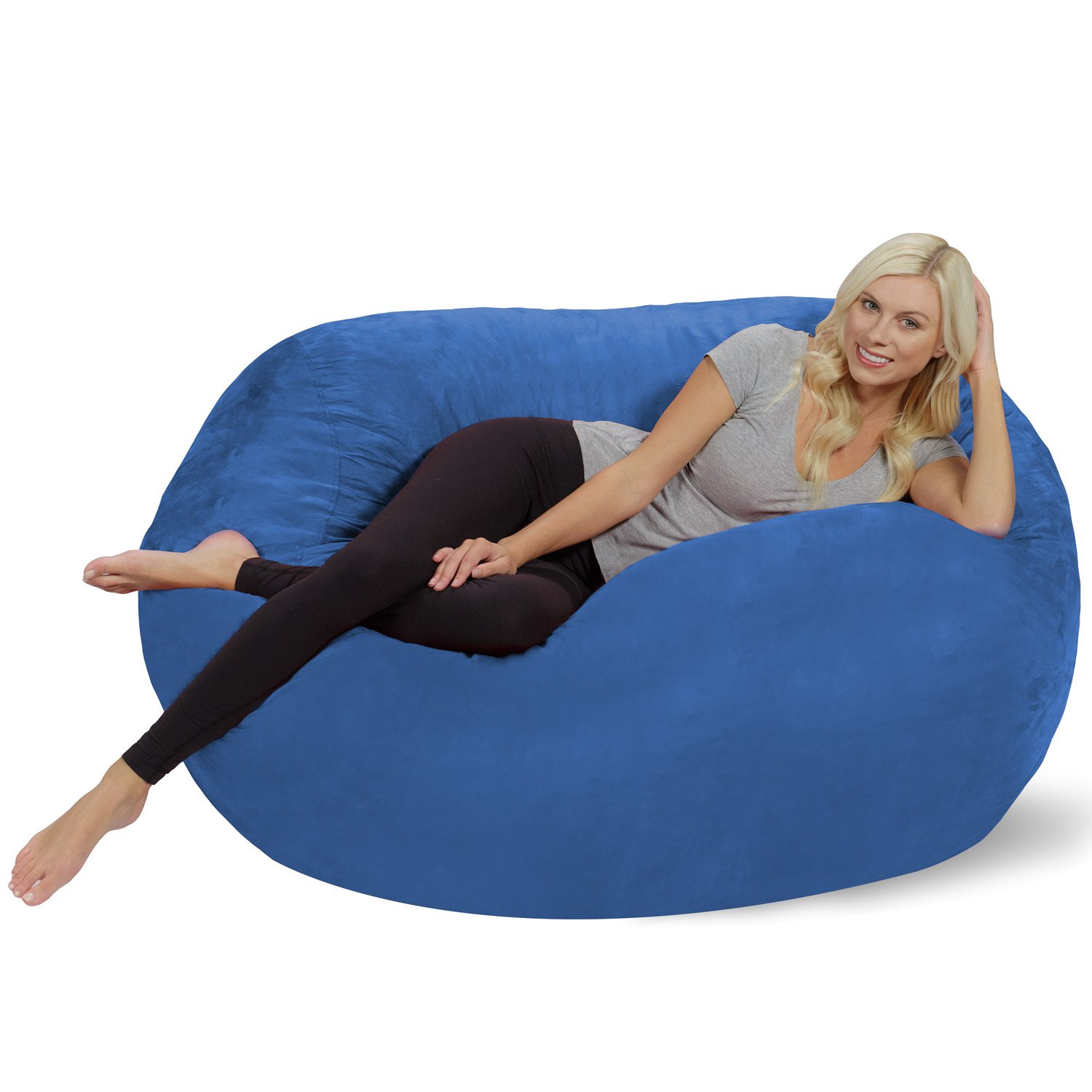 Cozy Sack Replacement Cover for 8 Foot Bean Bag Chair 48 Inch Diameter Durable Double Stitch Construction Machine Wash