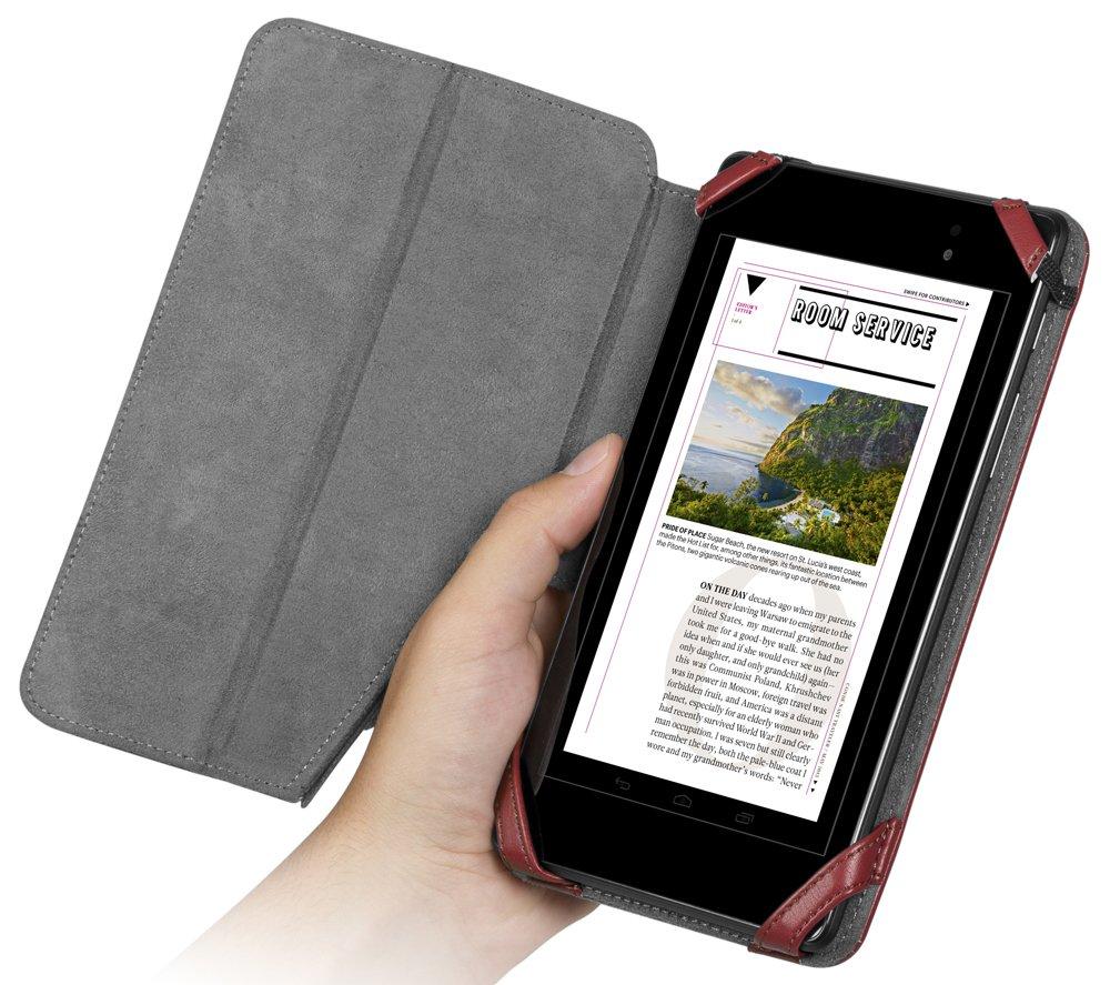 Chil Notchbookプレミアムレザーカバーfor Google Nexus 7第2世代 – Merlot ( 0112 – 4771 )   B00GV4UYDM