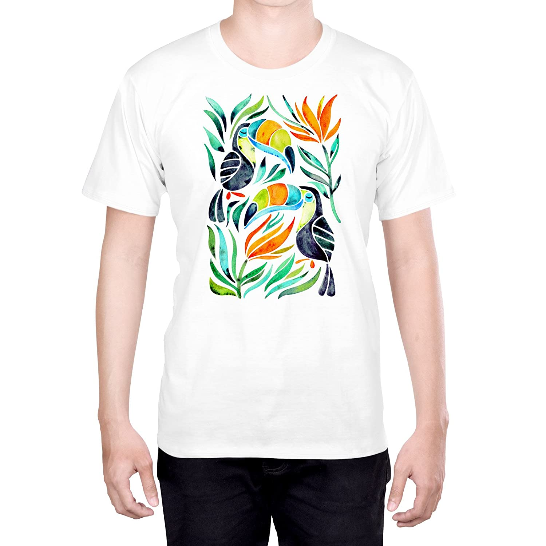 Official Monika Strigel Lucky Elephants Art L - Large Black T-Shirt for Men