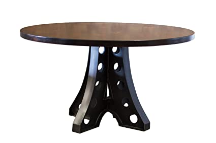 Round Amelia Industrial Pedestal Table (54u0026quot; Round X 30u0026quot; H, ...