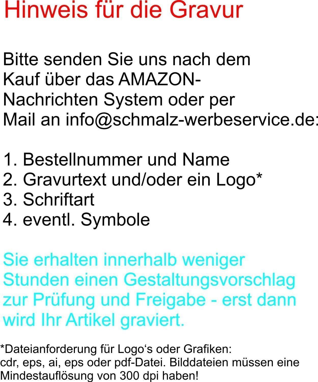 Gravur schwarz Schnapsgl/äser Einf/ülltrichter Lasergravur Flachmannset Edelstahl Flachmann Set inkl