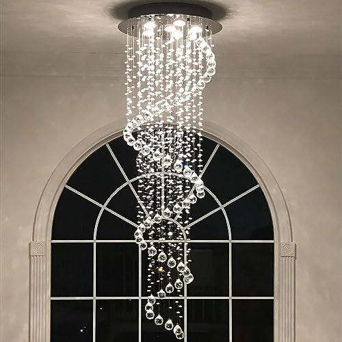 Modern Contemporary Swirl Chandelier Lighting
