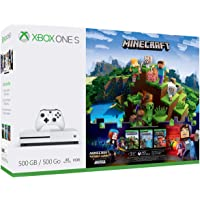 Xbox One S 500GB Console - Minecraft Complete Adventure Bundle [Discontinued] (Renewed)