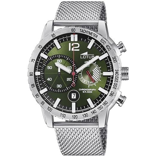Lotus Reloj Cronógrafo para Hombre de Cuarzo con Correa en Acero Inoxidable 10137/1: Amazon.es: Relojes