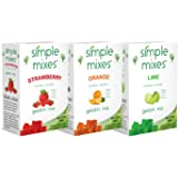 Simple Mixes Gelatin Variety Packs - Strawberry, Orange and Lime (6ct.)