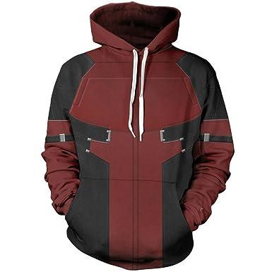 Leezeshaw Unisex Boys Girls 3D All Over Captain America Print Zip Up Hoodie Jacket Patterned Sweatshirt with Pocket
