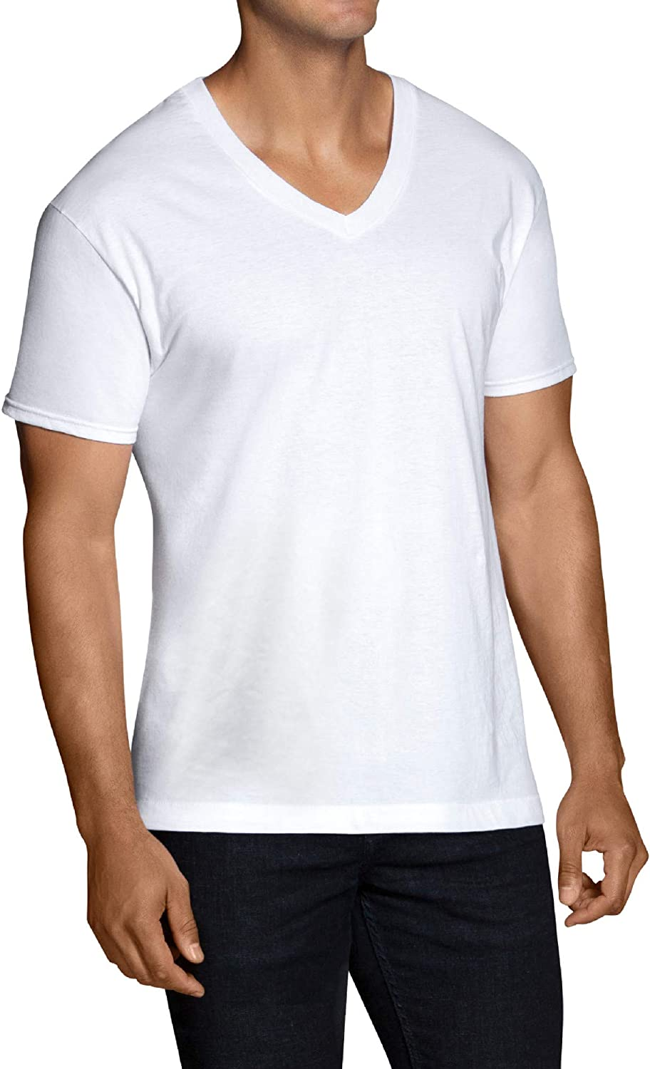 Pack of 10 White Cotton Fruit of the Loom Big Men/'s Crew Neck T-Shirts 2x 3x
