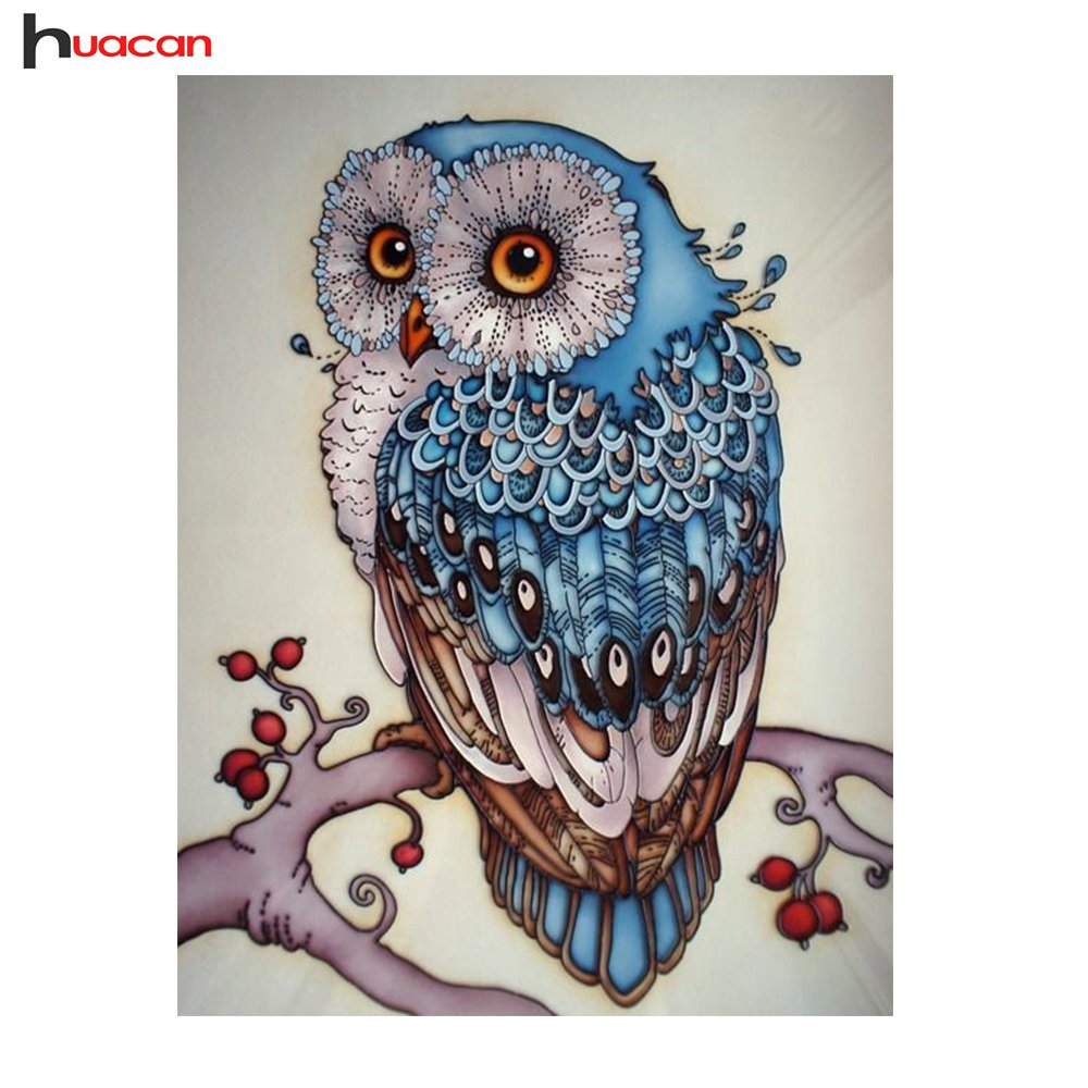 HuaCan Diamond Painting DIY 5D Full Square Drill Crystal Rhinestone by Number Kits Embroidery Pictures Arts Craft for Home Wall Decor Colorful Cat 20x30cm Yiwu Huacan Jewelry Factory