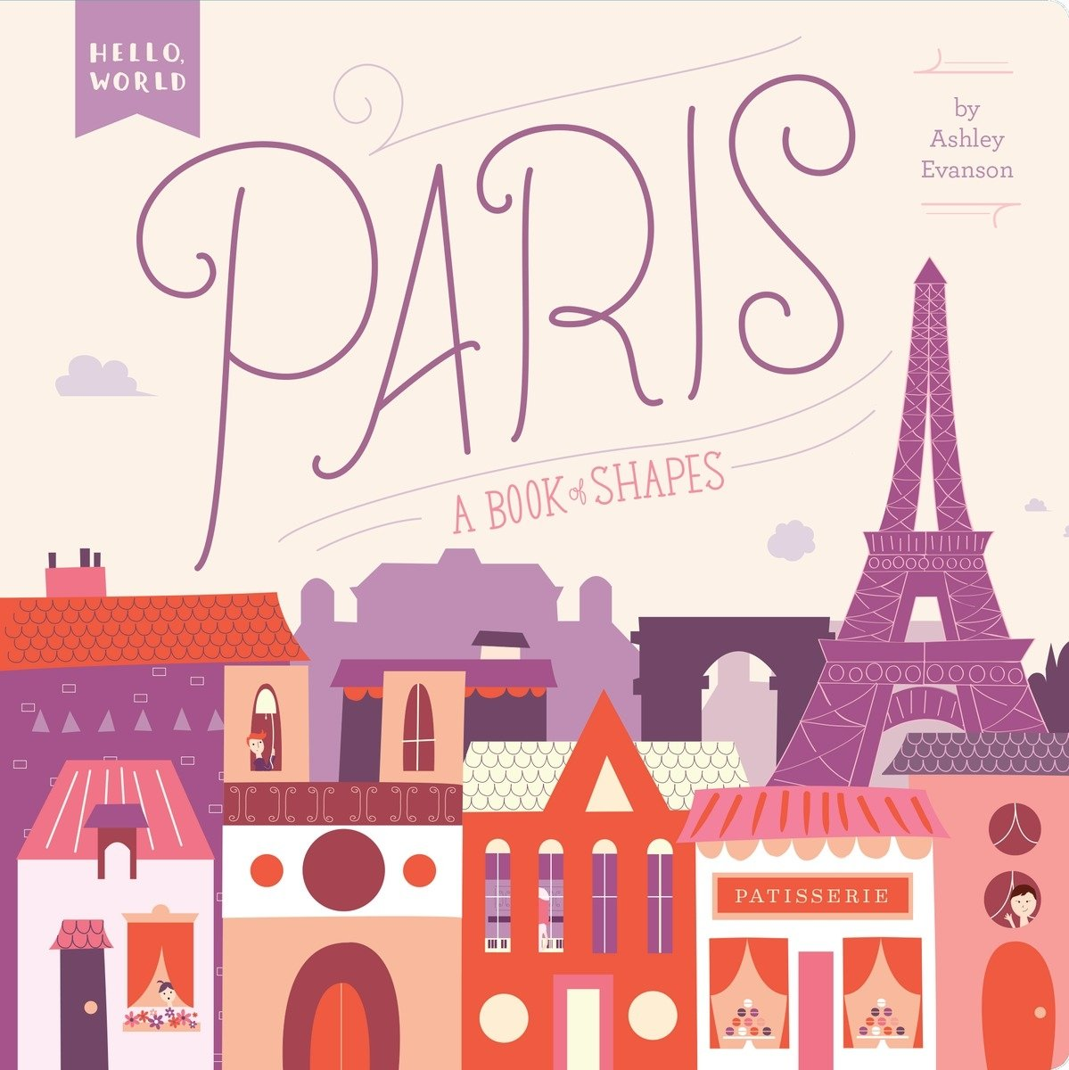 Cute baby travel book about Paris | baby adventure book