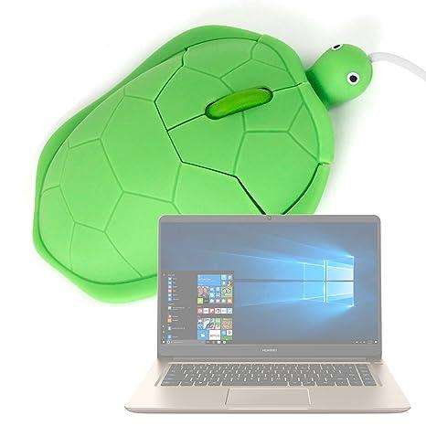 DURAGADGET Ratón con Forma De Tortuga para Portátil Huawei MateBook D - con Conexión USB -
