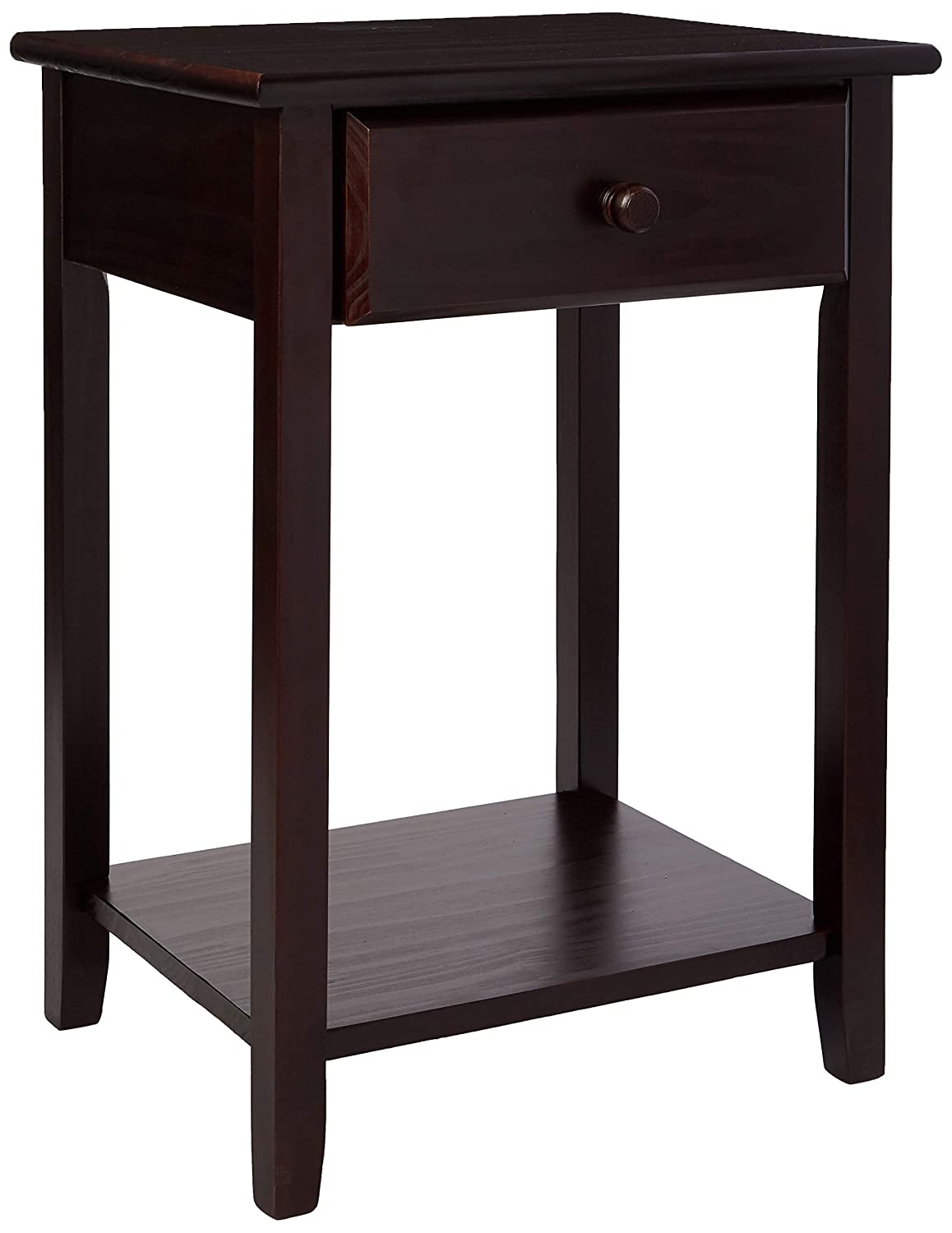 Casual Home 647-23 Owl Night Stand with USB Port