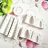 CALISTOUK - Molde de silicona 3D con diseño de unicornio para hornear pastel y fondant(