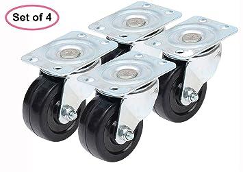 AISIBO - Rueda giratoria de 5 cm de poliuretano para rueda de ruedas ...