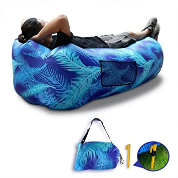 DasMeer sofá hinchable tumbona silla almohada con el patrón de la ...