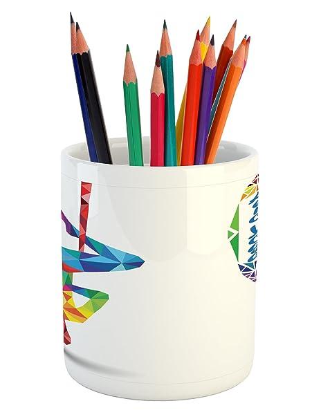 Amazon.com: Ambesonne Yoga Pencil Pen Holder, Aerial Aero ...
